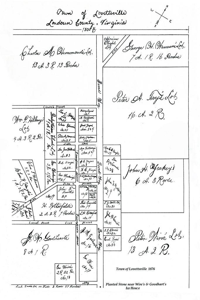 1876 Town of Lovettsville Plat 20x30 POSTER