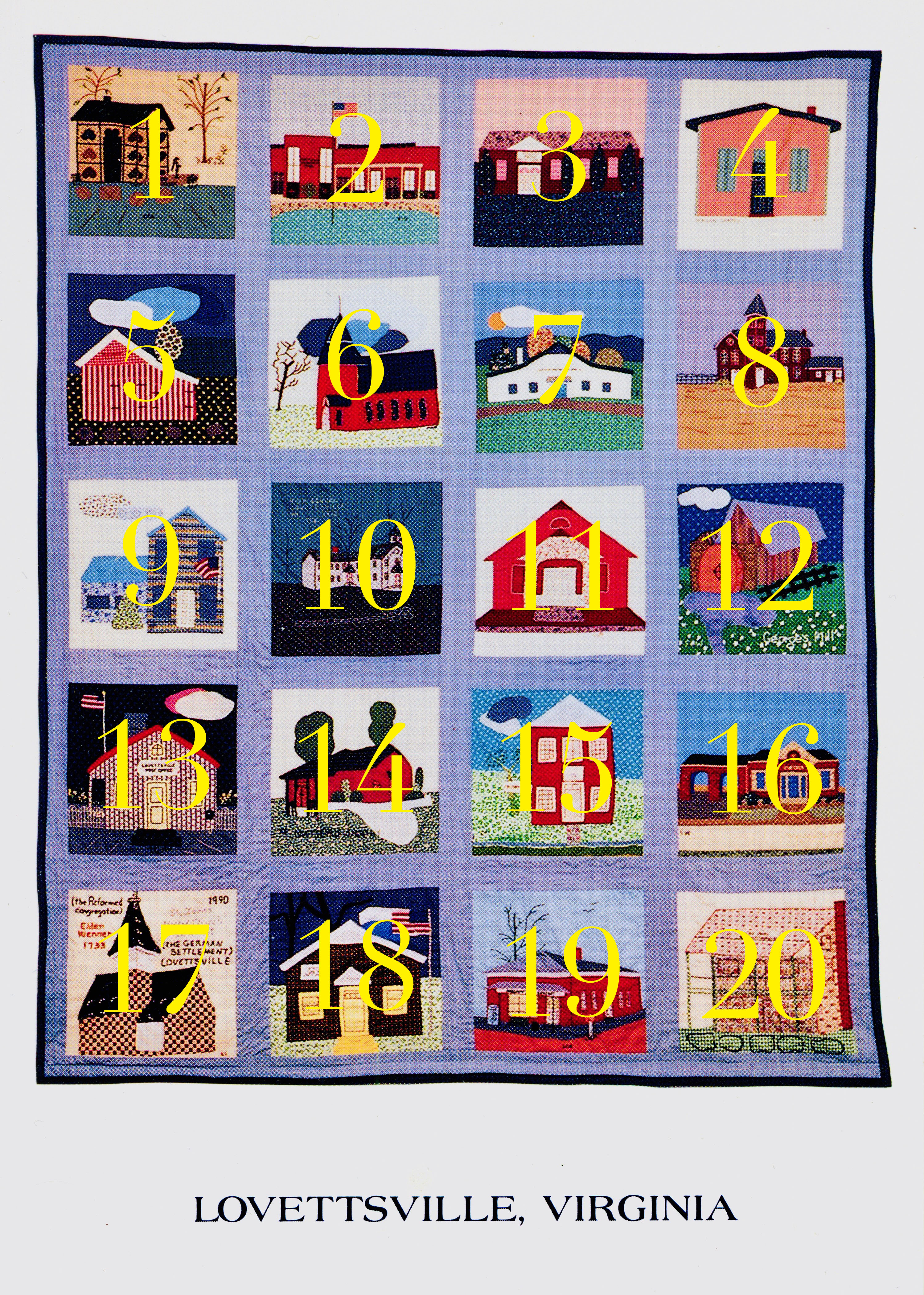 1990 Lovettsville Community Quilt LABELED