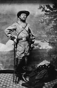 "Confederate Col. John Mosby. The writing at the top says ""Richmond, 1865."""
