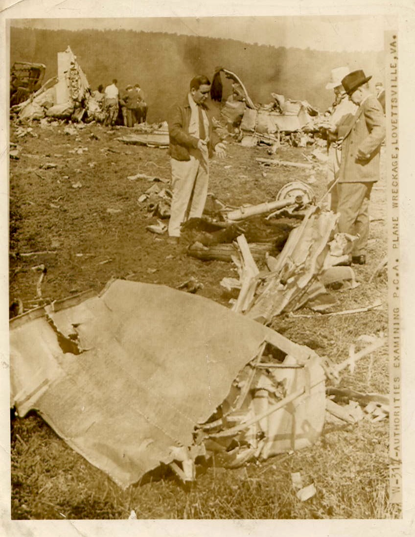 1940 Lovettsville Air Crash News Photo