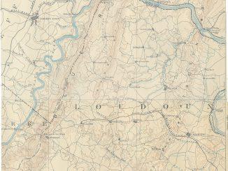 1893 Map of Loudoun County, Virginia
