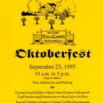 1995 Lovettsville Oktoberfest Booklet Cover