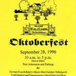 1996 Lovettsville Oktoberfest Booklet Cover