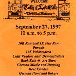 1997 Lovettsville Oktoberfest Booklet Cover