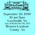 1998 Lovettsville Oktoberfest Booklet Cover