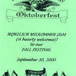 2000 Lovettsville Oktoberfest Booklet Cover