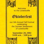 2002 Lovettsville Oktoberfest Booklet Cover