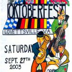 2003 Lovettsville Oktoberfest Booklet Cover_10th Anniversary by Walt Barth