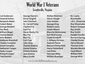 WWI Veterans of Lovettsville Poster 10x6