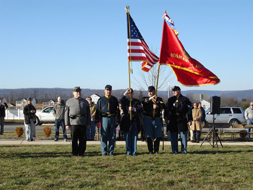 Color Guard at Historic Marker Dedication