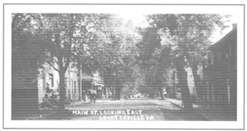 Lovettsville Main Street Looking East, Circa 1915