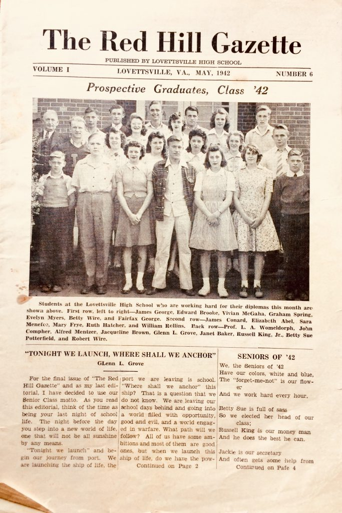 1942 Lovettsville High School Class Photo_The Red Gazette