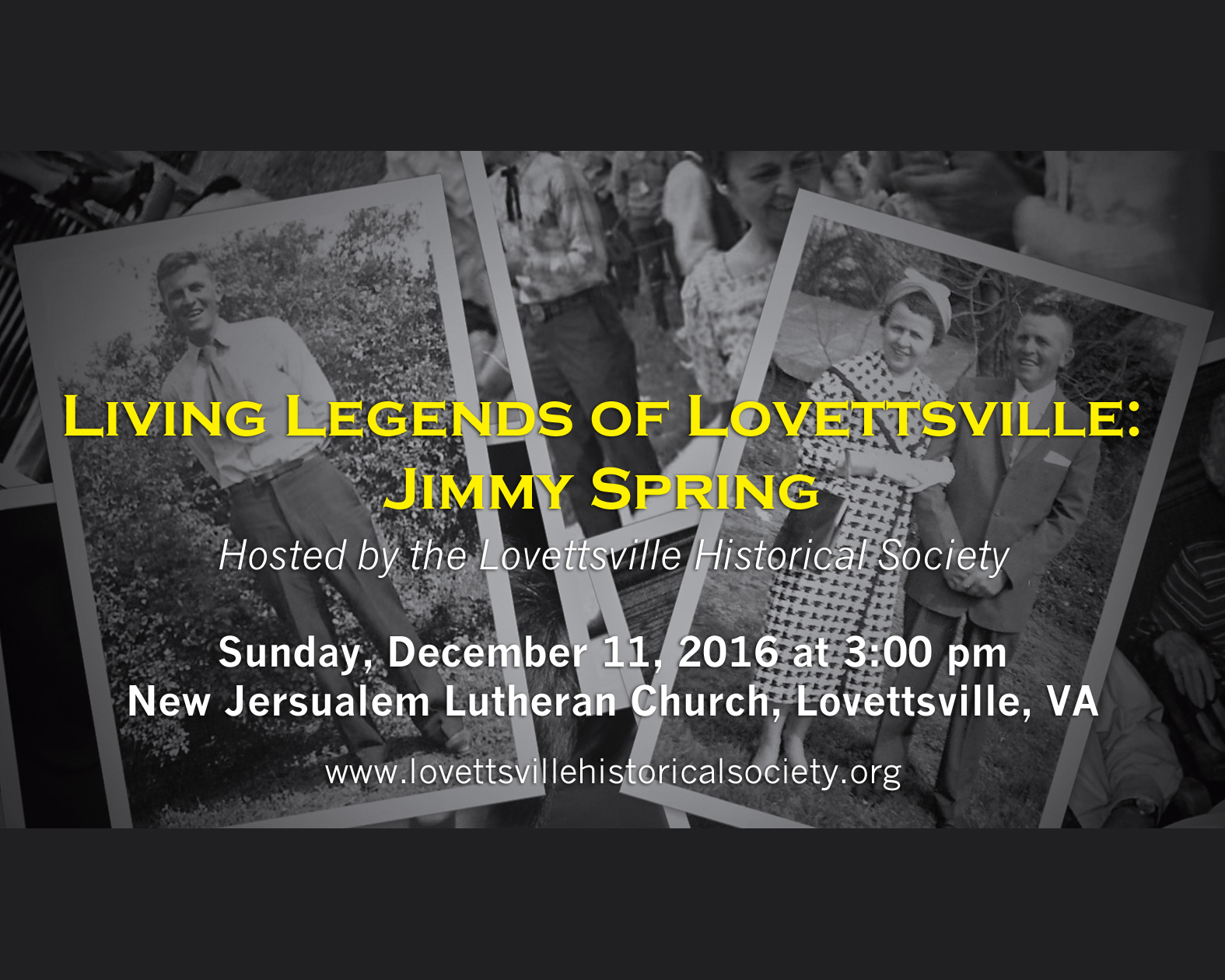 Jimmy Spring-Lovettsville Living Legend