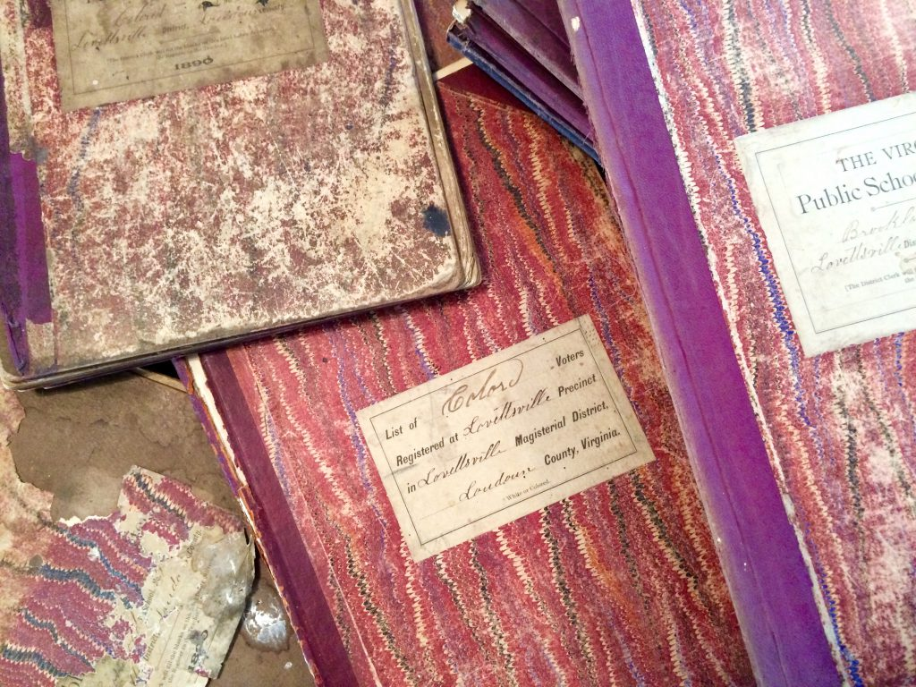 Colored School Ledger Books at the Lovettsville Historical Society_Feb 2017