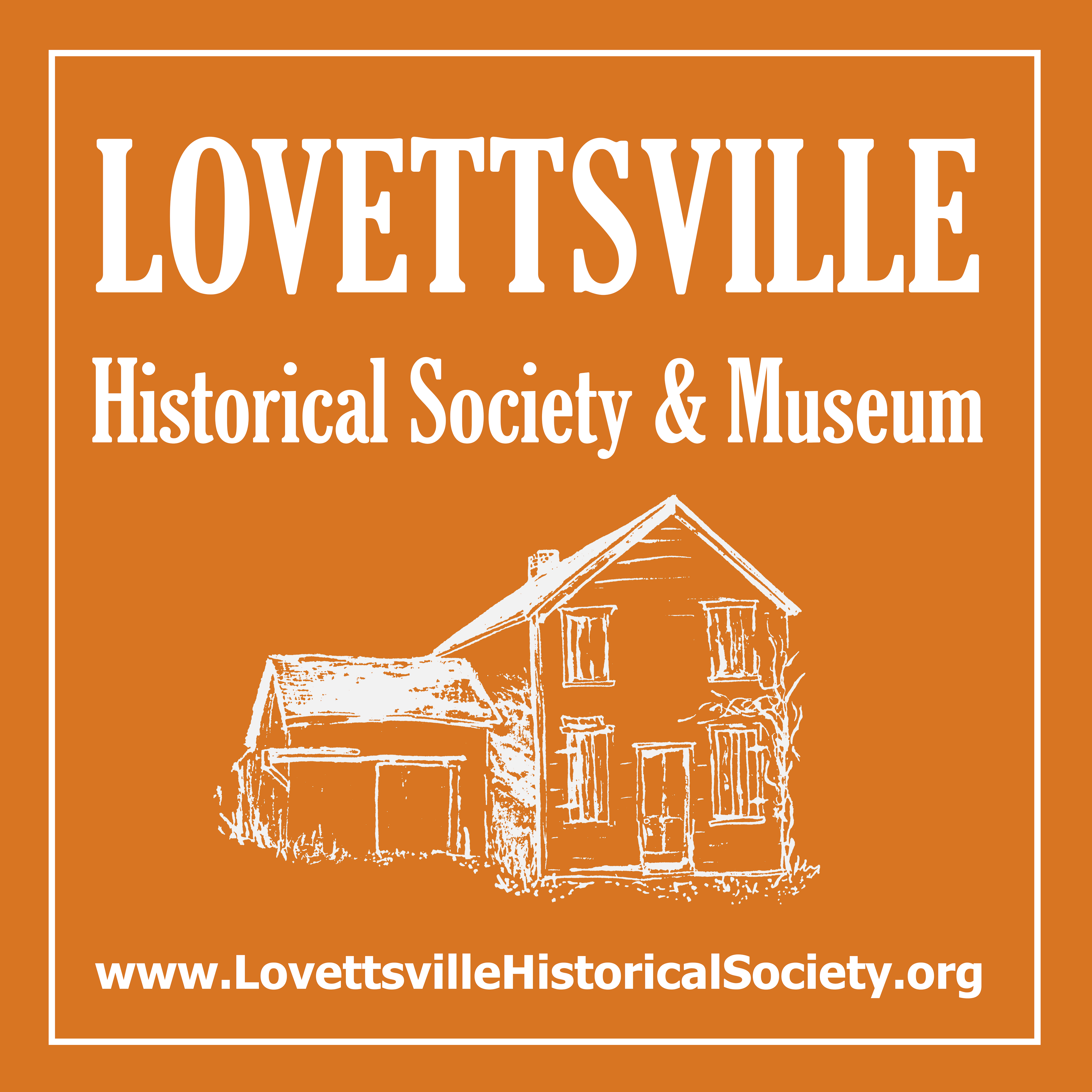 Lovettsville Museum Hanging Sign ORANGE