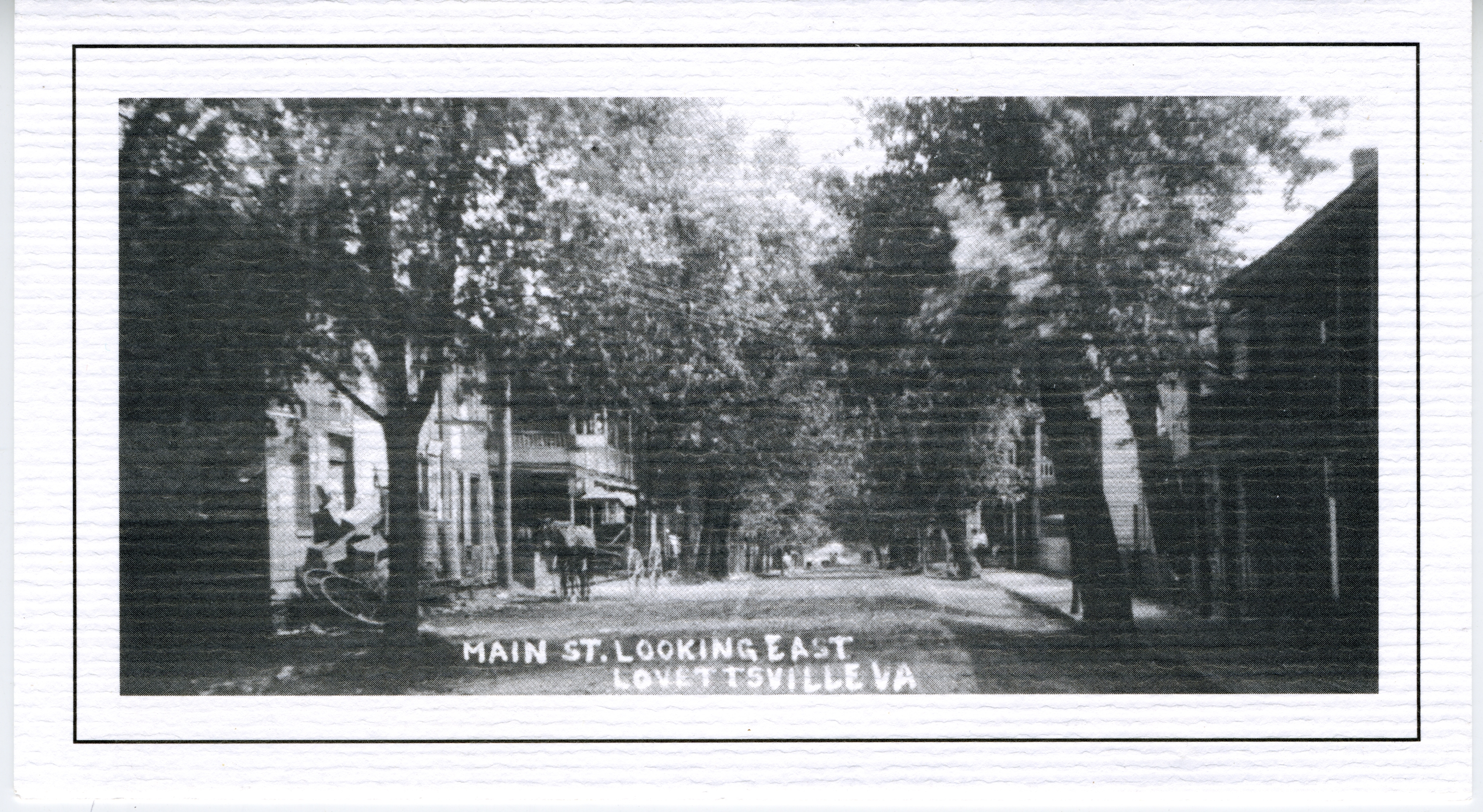 1900 circa Lovettsville Main Street Looking East copy 2