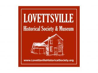 Lovettsville Museum Square Logo RED horizontal banner