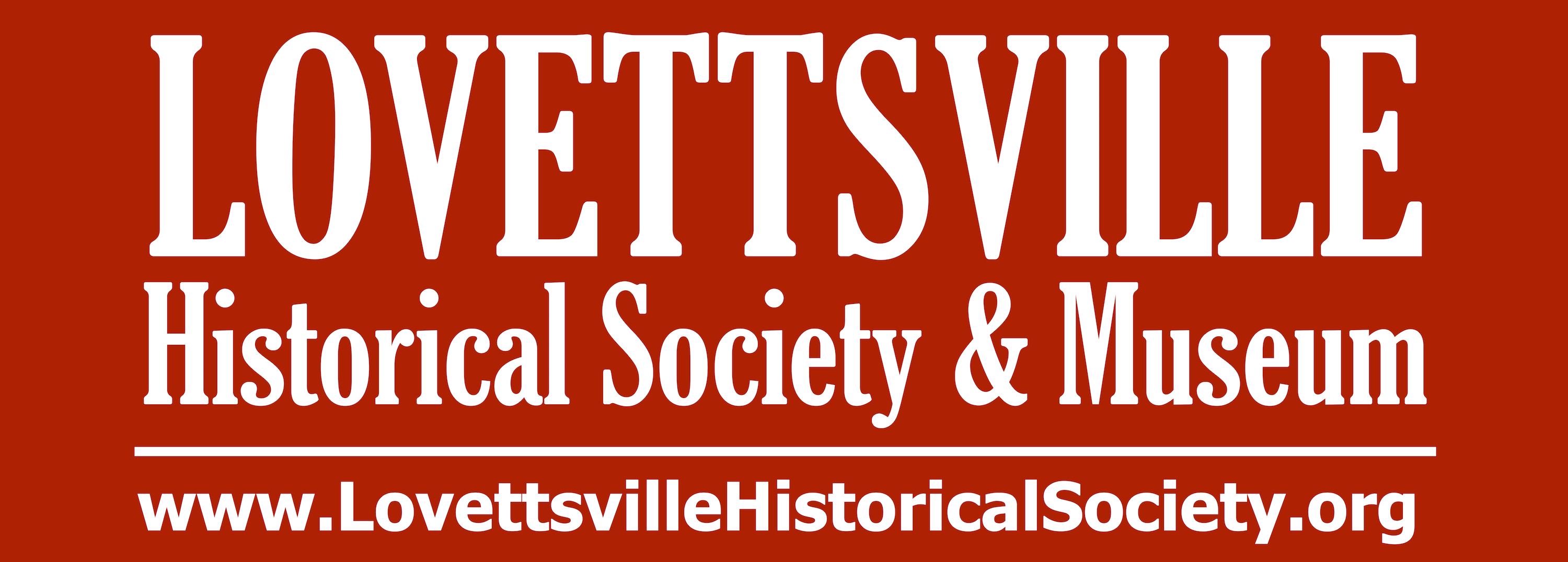 Lovettsville Museum Banner Changing Colors-feb 2018