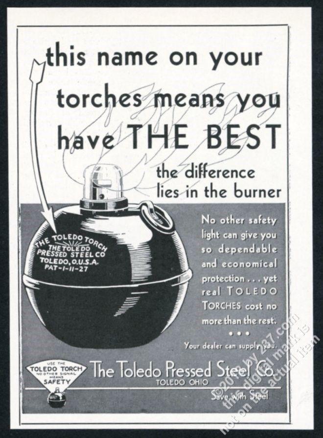 Toledo Torch advertisement
