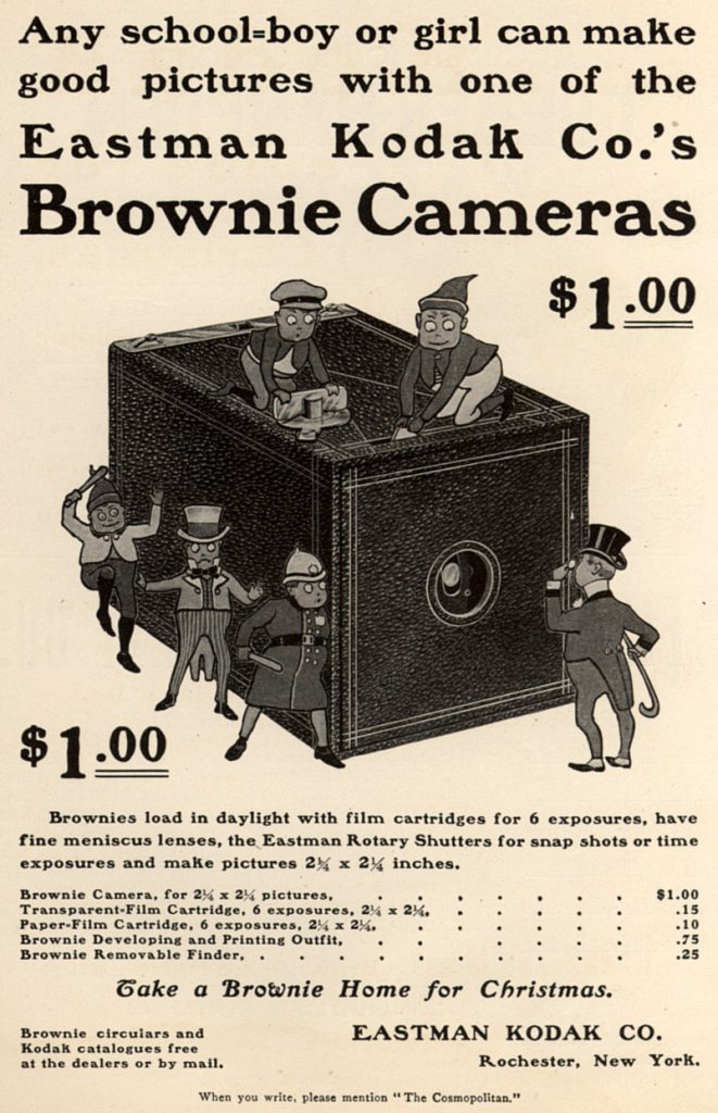 Brownie camera advertisement large