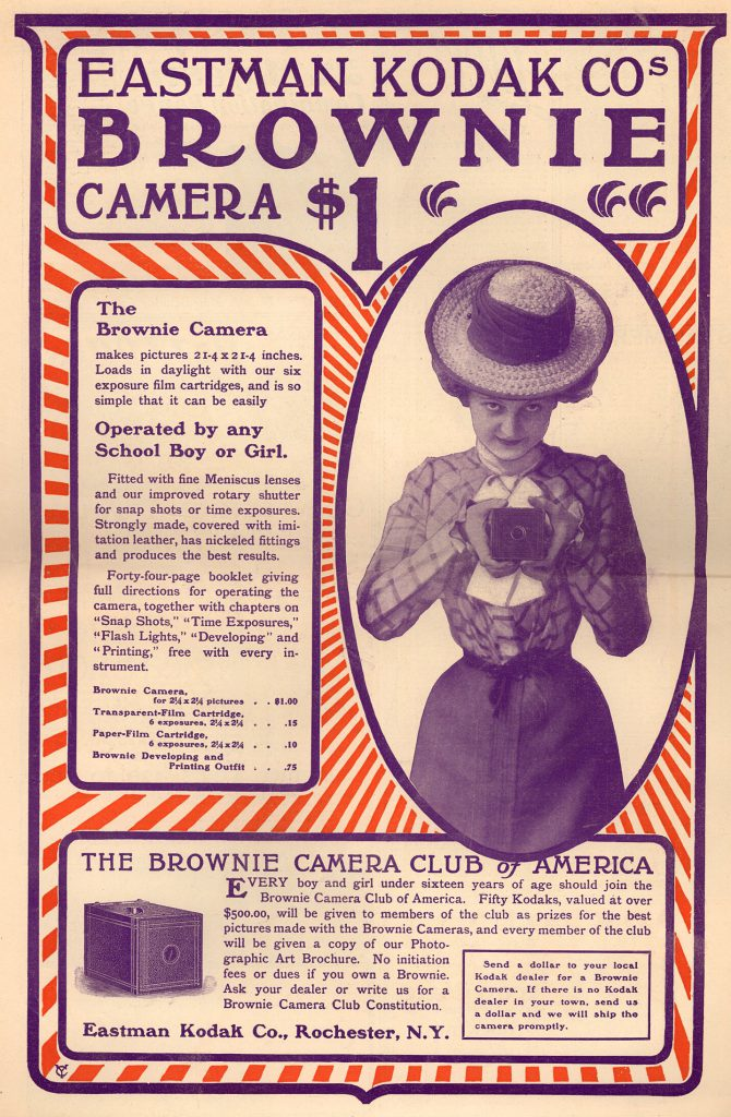 Brownie camera lady