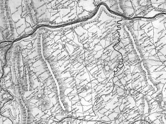 1863 4x6 Map of Fauquier and Loudon Va Postcard-Front