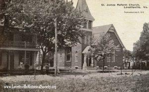 1912 Lovettsville St James Reform Church Postcard watermarked