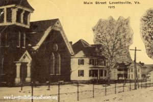 1915 Main Street Lovettsville Postcard Front-Dated-Watermarked