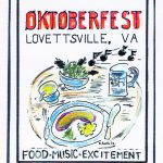 Lovettsville Oktoberfest Art Poster by Walt Barth_1