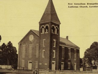 New Jerusalem Gerusilem Church Lovettsville Virginia Postcard early 1900s