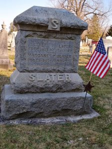 Luther W. Slater monument, Lovettsville Union Cemetery.