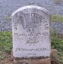 Jonah Potterfield gravesite at Old Presbyterian Cemetery