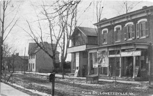From left: Luther Potterfield home, Eamich home, Freedom Lodge, Cost-Grubb-McClain store.