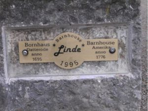 In the town of Datterode, a Linden trees is dedicated to the Bornhaus family members who went to America in 1776