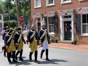 Hessian re-enactors, July 4, 2019, Waterford, Va. (photo Waterford Citizens Association)