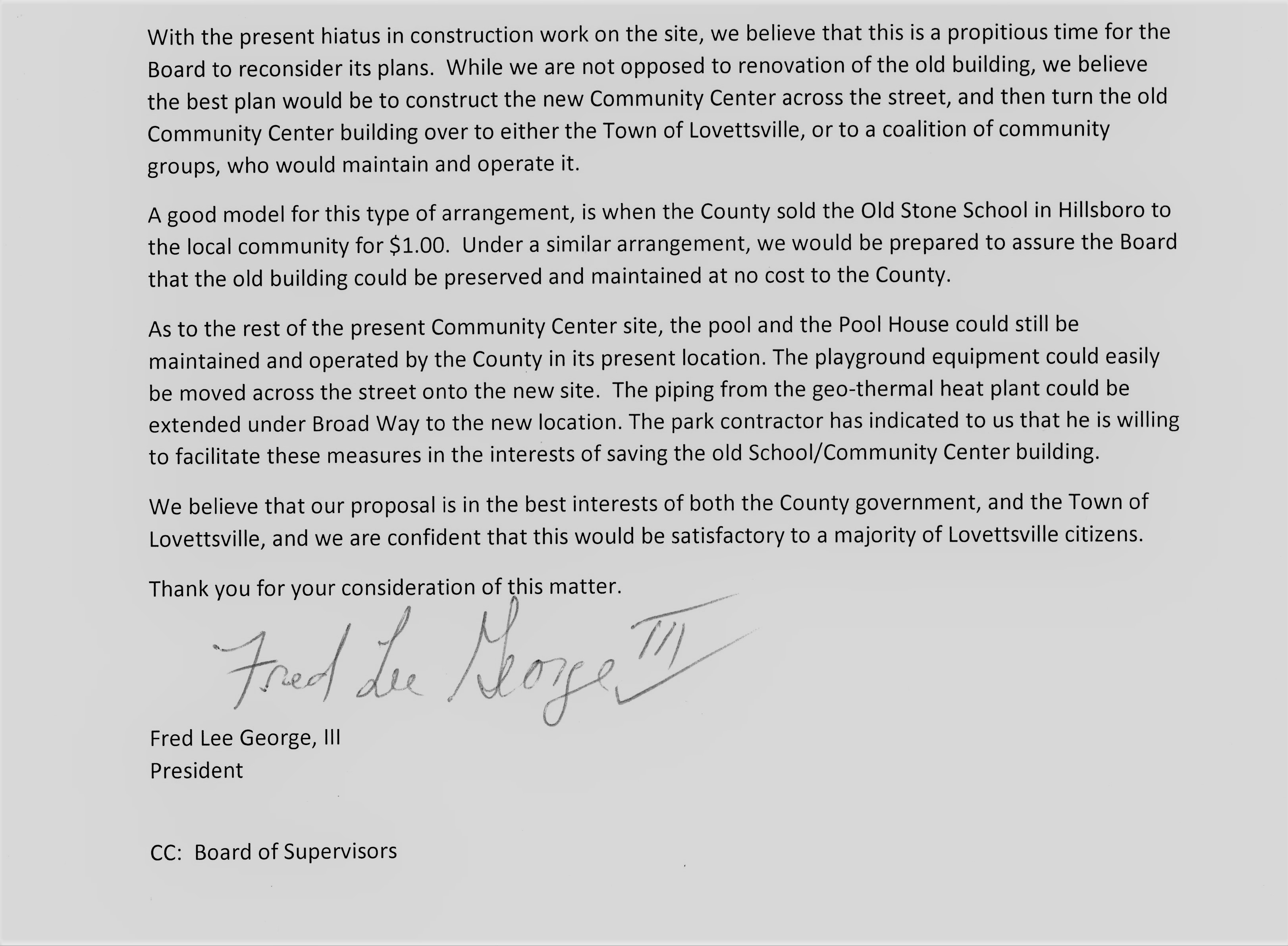LHS letter to BOS re LCC_0002