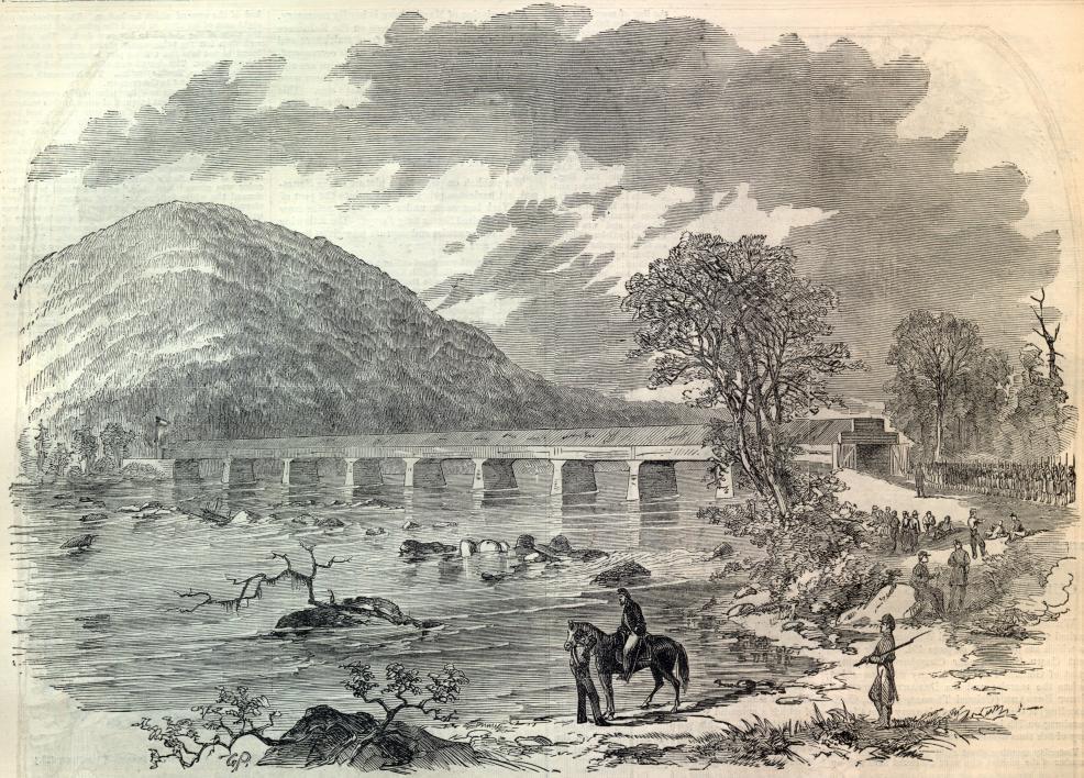 The old Point of Rocks bridge