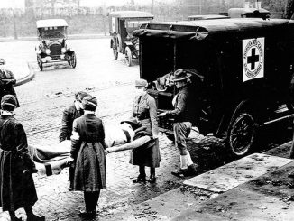 Red Cross Ambulance Corps during 1918 Spanish Flu epidemic.   Photo: cdc.gov