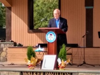 Michael Zapf speaking at the Elaine Walter memorial service