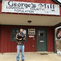 Sam Kroiz at the George's Mill farm store.