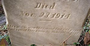 Maria Curtis inscription