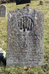 Henry ruse ((1793-1865) grave marker at New Jerusalem Lutheran Cemetery