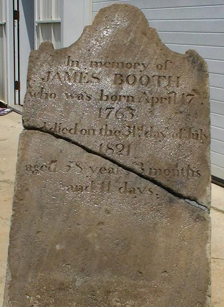 Booth James gravestone