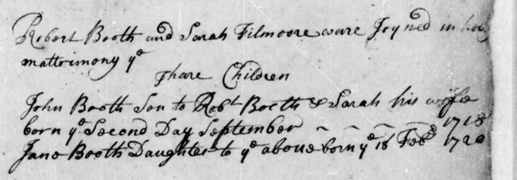 Booth marriage record