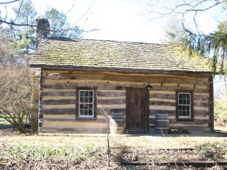 The Hawker Log Store, in its new location at Lovettsville