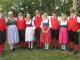 Alpine Dancers. Founder Herb Trexler is at center,  Carol Trexler is in blue apron at left.