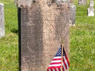 Philip Souder headstone, Reformed Cemetery