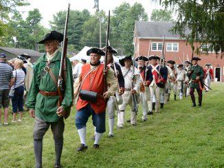 NJLC grave marking preparing musket salute